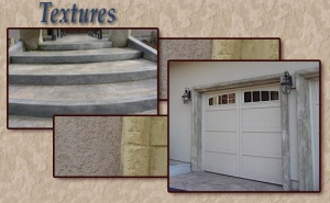 Concrete and plaster finishes